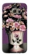 Dark Ink Vase And Flowers Galaxy S6 Case by Good Taste Art