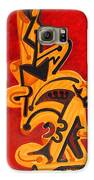 Figures In Red Galaxy S6 Case by Dayna Reed