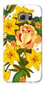 Golden Lily Flowers With Golden Rose Galaxy S6 Case