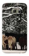 Horses In Snow Galaxy S6 Case by Tanya Jacobson-Smith