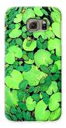 Lily Pads On Black Galaxy S6 Case by Annette Allman
