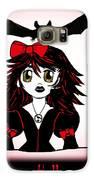 Little Goth Halloween Girl Galaxy S6 Case by Eva Thomas