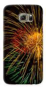 Orange Yellow Green Fireworks Galveston Galaxy S6 Case