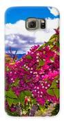 Pink Bush Galaxy S6 Case by Lisa Cortez