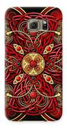 Red And Gold Celtic Cross Galaxy S6 Case by Richard Barnes