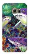 Sharks Galaxy S6 Case by Ann  Nicholson