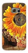 Stillife With  The Sunflower And Pumpkins Galaxy S6 Case by Halyna  Yarova