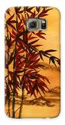 Sumi-e Red Bamboo Galaxy S6 Case by Diane Ferron