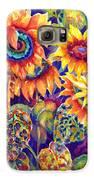 Sunflower Garden Galaxy S6 Case by Ann  Nicholson
