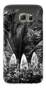 Surf Board Fence Maui Hawaii Black And White Galaxy S6 Case by Edward Fielding
