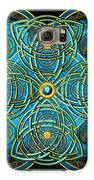 Teal Blue And Gold Celtic Cross Galaxy S6 Case