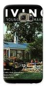 The Exterior Of A House And Patio Furniture Galaxy S6 Case by Nowell Ward