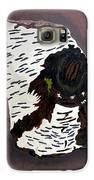 White Birch Tree Log Tribute Galaxy S6 Case by Elizabeth Stedman