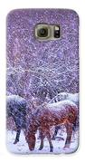 Wild Horse Christams Galaxy S6 Case by Jeanne  Bencich-Nations