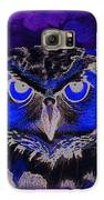 2011 Dreamy Horned Owl Negative Galaxy S6 Case by Lilibeth Andre
