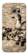 Baby Ducks - Sepia Galaxy S6 Case by Sergio Aguayo