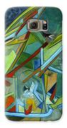 Cool Abstract Biker Print For Men Art Decor Gifts Galaxy S6 Case by Marie Christine Belkadi