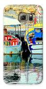 Happy And Colorful Boats In Their Own Company  Galaxy S6 Case by Hilde Widerberg