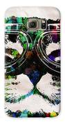 Cat Watercolor Rainbow Dreaming In Color Poster Print By Robert R Galaxy S6 Case