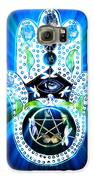 Hamsa Hand Indigo Energy Galaxy S6 Case by Eva Thomas