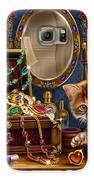Kittens With Jewelry Box Galaxy S6 Case by Anne Wertheim