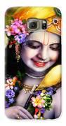 Krishna With Parrot Galaxy S6 Case by Lila Shravani