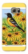 Maryland State Bird Oriole And Daisy Flower Galaxy S6 Case by Crista Forest