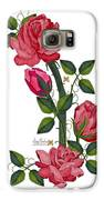 Olde Rose Pink With Leaves And Tendrils Galaxy S6 Case by Anne Norskog