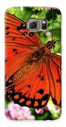 Orange Butterfly Galaxy S6 Case