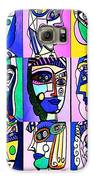 Picasso Blue Women Galaxy S6 Case by Sandra Silberzweig