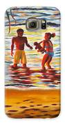 Play Day At Jobos Beach Galaxy S6 Case by Milagros Palmieri