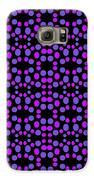 Purple Dots Pattern On Black Galaxy S6 Case