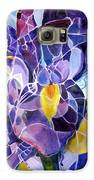 Purple Irises Galaxy S6 Case by Therese AbouNader