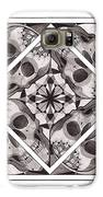 Skull Mandala Series Number Two Galaxy S6 Case by Deadcharming Art