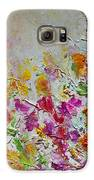 Summer Fragrance Abstract Painting Galaxy S6 Case by Julia Apostolova