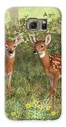 Whitetail Deer Twin Fawns Galaxy S6 Case by Crista Forest