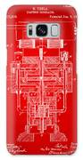 1894 Tesla Electric Generator Patent Red Galaxy Case by Nikki Marie Smith