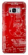 1961 Fender Guitar Patent Artwork - Red Galaxy Case