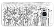 A Farmer And His Daughter Look At Cornstalks Who Galaxy S8 Case