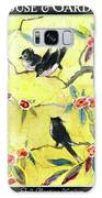 A House And Garden Cover Of Chickadees Galaxy S8 Case