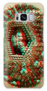 Anaglyph Of Influenza Virus Cutaway Showing Internal Structure 1 Galaxy Case by Russell Kightley