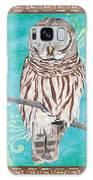 Aqua Barred Owl Galaxy S8 Case