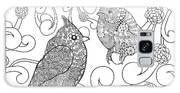 Birds Coloring Page. Animals. Hand Galaxy S8 Case
