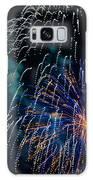 Blue Orange White Fireworks Galveston Galaxy S8 Case