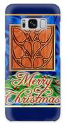 Blue Satin Merry Christmas Galaxy S8 Case