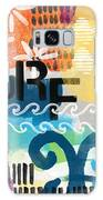 Carousel #7 Surf - Contemporary Abstract Art Galaxy Case by Linda Woods