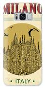Cathedral Of Milano, Italy  In Vintage Galaxy S8 Case
