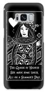 Celtic Queen Of Hearts Part I In Black And White Galaxy S8 Case