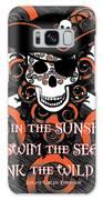 Celtic Spiral Pirate In Orange And Black Galaxy S8 Case
