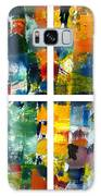 Color Relationships Collage Galaxy Case by Michelle Calkins